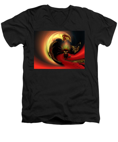 The Glory Of His Eminance Men's V-Neck T-Shirt by Claude McCoy