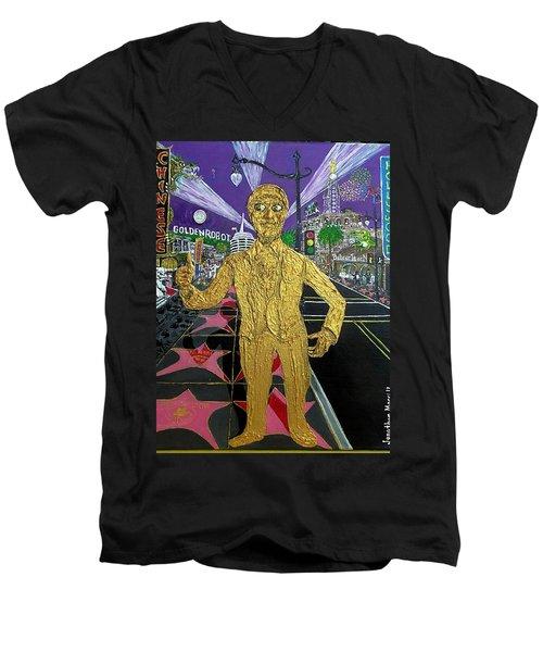 The Golden Robot Men's V-Neck T-Shirt