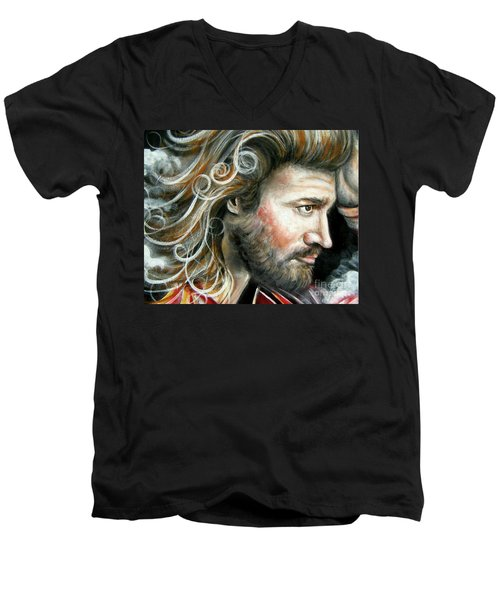 The Greatest Man In The World Men's V-Neck T-Shirt by Patrice Torrillo