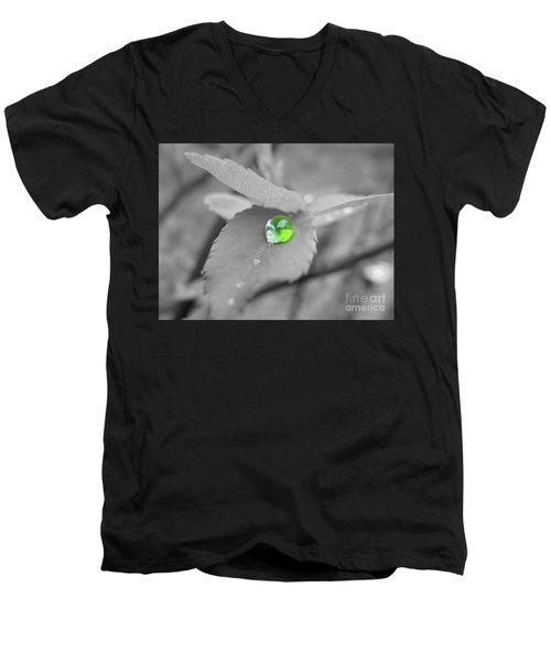The Green Pearl Men's V-Neck T-Shirt by Patti Whitten