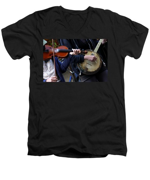 The Hands Of Jazz Men's V-Neck T-Shirt