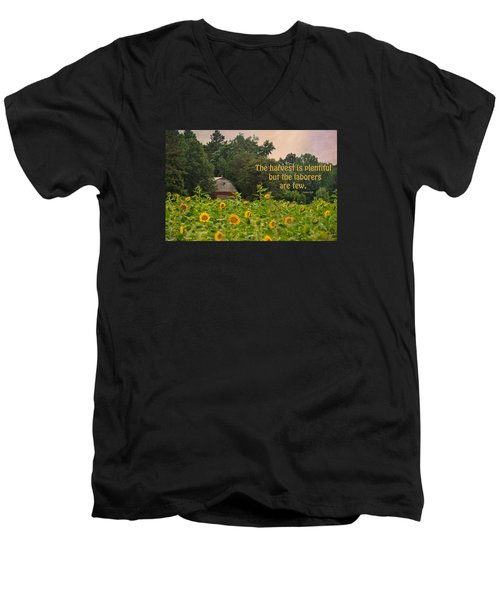 The Harvest Is Plentiful Men's V-Neck T-Shirt by Sandi OReilly