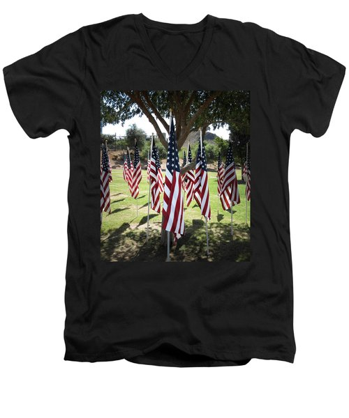 The Healing Field Men's V-Neck T-Shirt