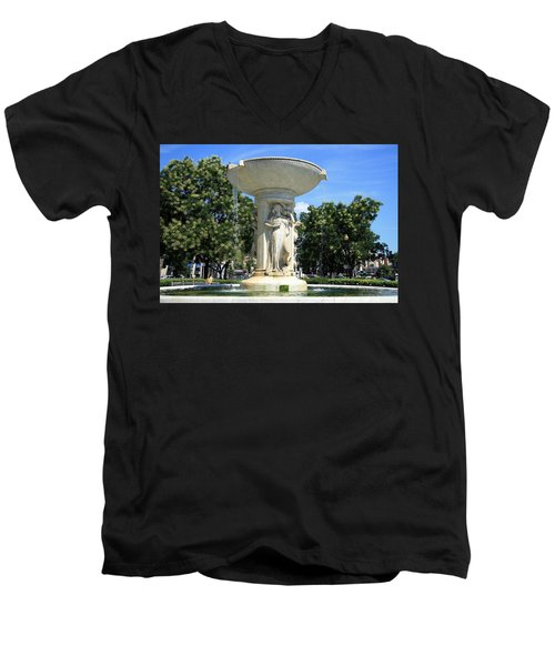 The Heart Of Dupont Circle Men's V-Neck T-Shirt by Cora Wandel