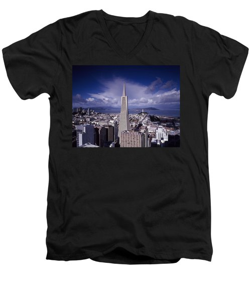 The Heart Of San Francisco Men's V-Neck T-Shirt