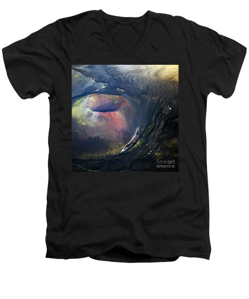 Men's V-Neck T-Shirt featuring the photograph The Hole by Gunnar Orn Arnason