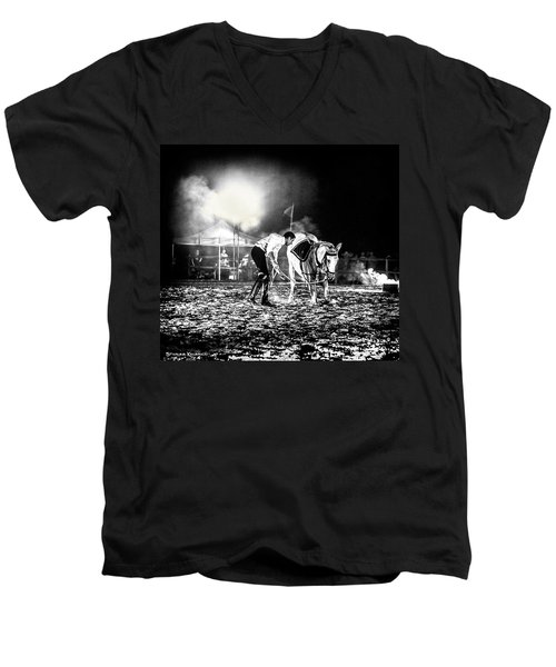 Men's V-Neck T-Shirt featuring the photograph The Horse That Suffered  by Stwayne Keubrick