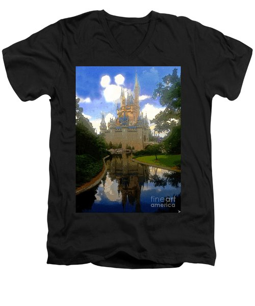 The House Of Cinderella Men's V-Neck T-Shirt by David Lee Thompson