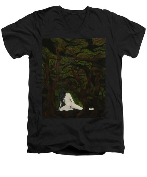 The Hunter Is Gone Men's V-Neck T-Shirt