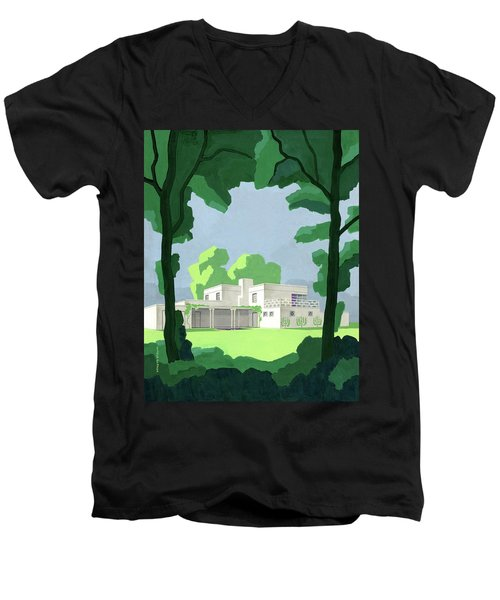 The Ideal House In House And Gardens Men's V-Neck T-Shirt