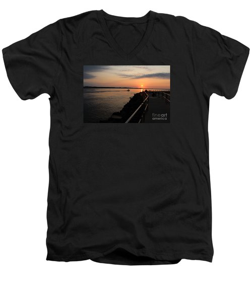 The Inlet Men's V-Neck T-Shirt by David Jackson