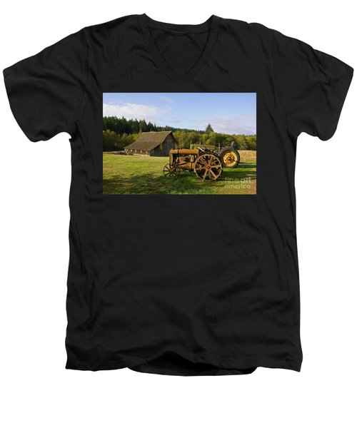 The Johnson Farm Men's V-Neck T-Shirt