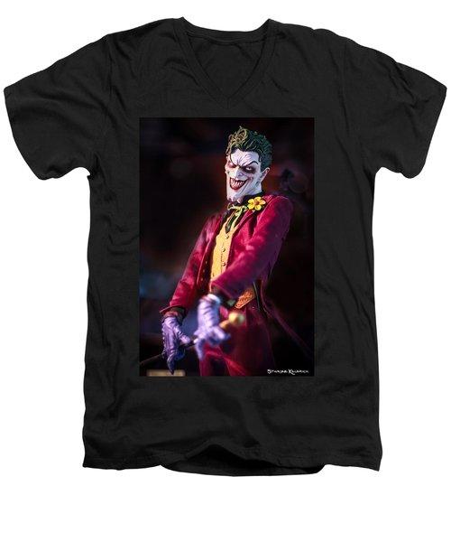 Men's V-Neck T-Shirt featuring the photograph The Joker Dummy by Stwayne Keubrick