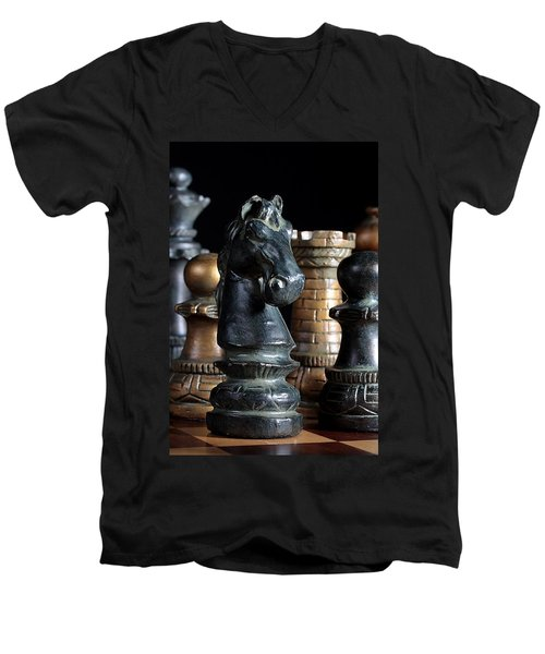 The Knights Challenge Men's V-Neck T-Shirt