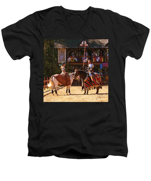 The Lady And The Knight Men's V-Neck T-Shirt