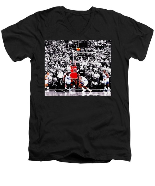 The Last Shot Men's V-Neck T-Shirt by Brian Reaves