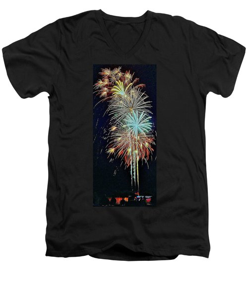 Men's V-Neck T-Shirt featuring the photograph The Last Shot... by Daniel Thompson