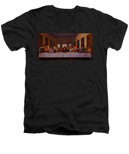 The Last Supper Men's V-Neck T-Shirt by Jonathan Davison