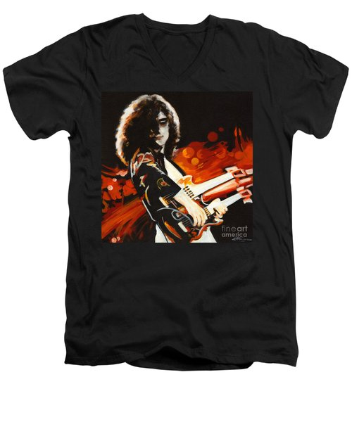 Stairway To Heaven. Jimmy Page  Men's V-Neck T-Shirt