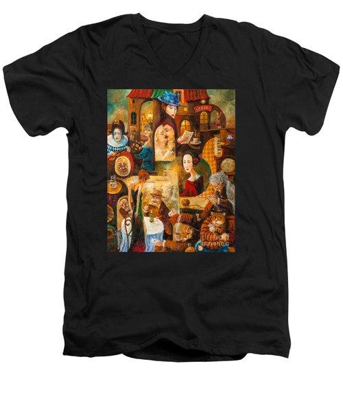 The Letter Men's V-Neck T-Shirt by Igor Postash