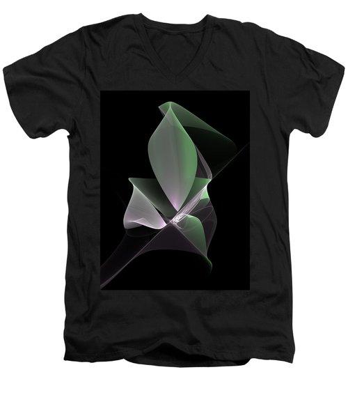 Men's V-Neck T-Shirt featuring the digital art The Light Inside by Gabiw Art
