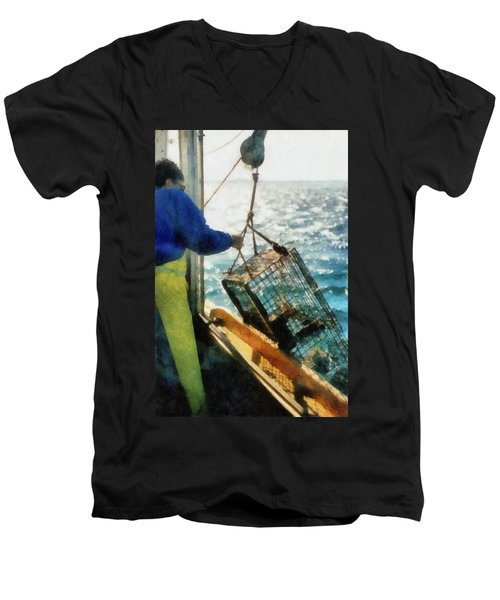 The Lobsterman Men's V-Neck T-Shirt