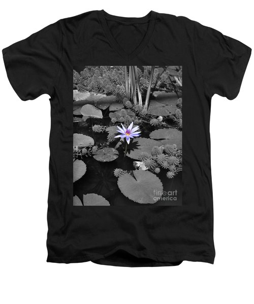 The Lone Flower Men's V-Neck T-Shirt