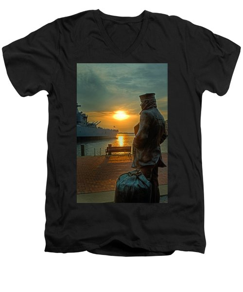 The Lone Sailor Men's V-Neck T-Shirt