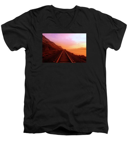 The Long Walk To No Where  Men's V-Neck T-Shirt by Jeff Swan