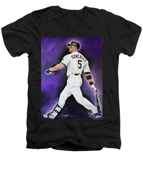 Carlos Gonzales Men's V-Neck T-Shirt