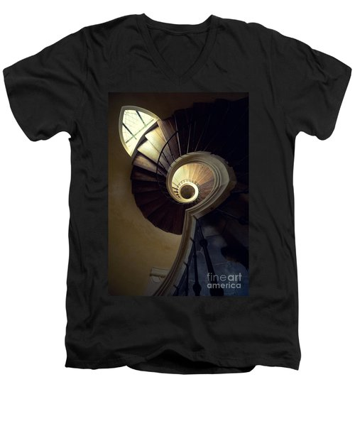 The Lost Tower Men's V-Neck T-Shirt by Jaroslaw Blaminsky