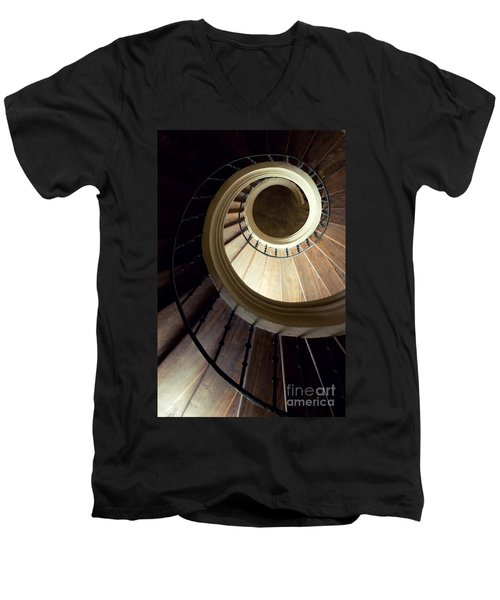 The Lost Wooden Tower Men's V-Neck T-Shirt by Jaroslaw Blaminsky