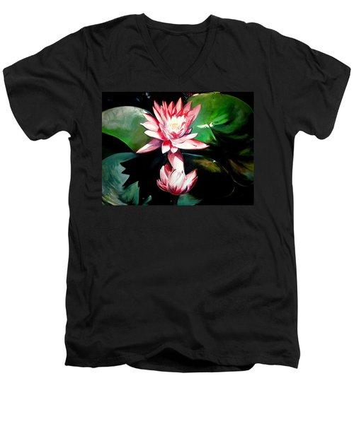 The Lotus Men's V-Neck T-Shirt