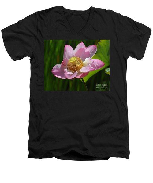 The Lotus Men's V-Neck T-Shirt by Vivian Christopher