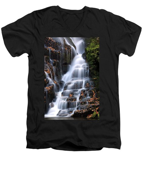 The Magic Of Waterfalls Men's V-Neck T-Shirt