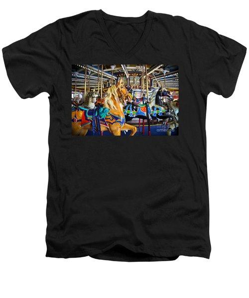 The Magical Machine - Carousel Men's V-Neck T-Shirt