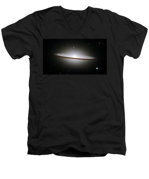 The Majestic Sombrero Galaxy Men's V-Neck T-Shirt