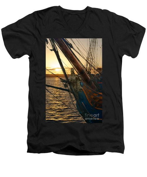 The Majesty Of The Ocean Men's V-Neck T-Shirt by Claudia Ellis
