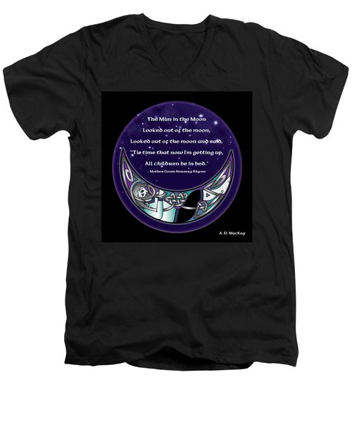 The Man In The Moon Men's V-Neck T-Shirt