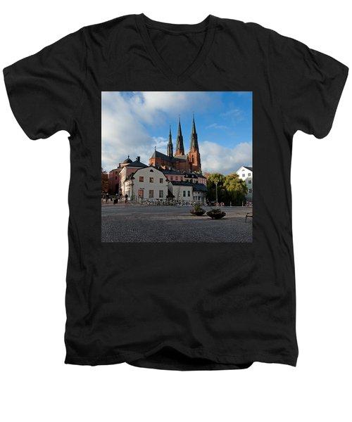 The Medieval Uppsala Men's V-Neck T-Shirt by Torbjorn Swenelius