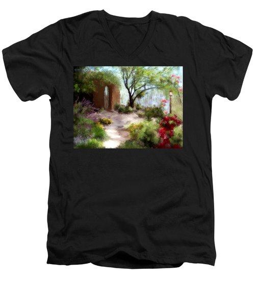 The Meditative Garden  Men's V-Neck T-Shirt