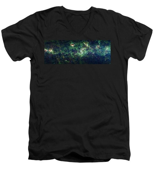 The Milky Way Men's V-Neck T-Shirt by Adam Romanowicz