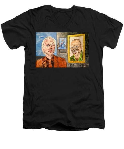 The Mirrored Truth Men's V-Neck T-Shirt by Valerie Ornstein