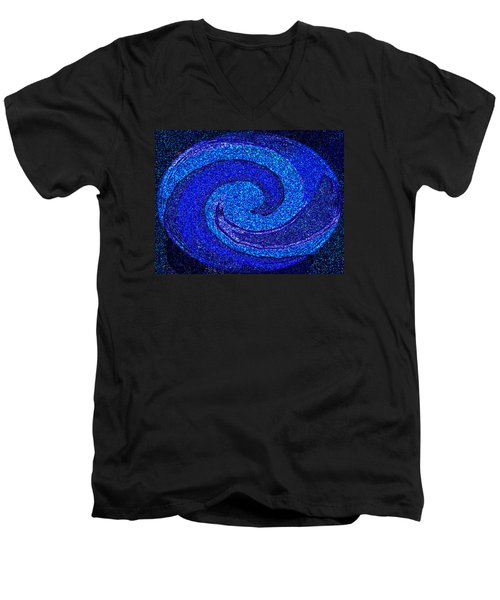 The Moon And Stars For Thee By Rjfxx. Men's V-Neck T-Shirt by RjFxx at beautifullart com