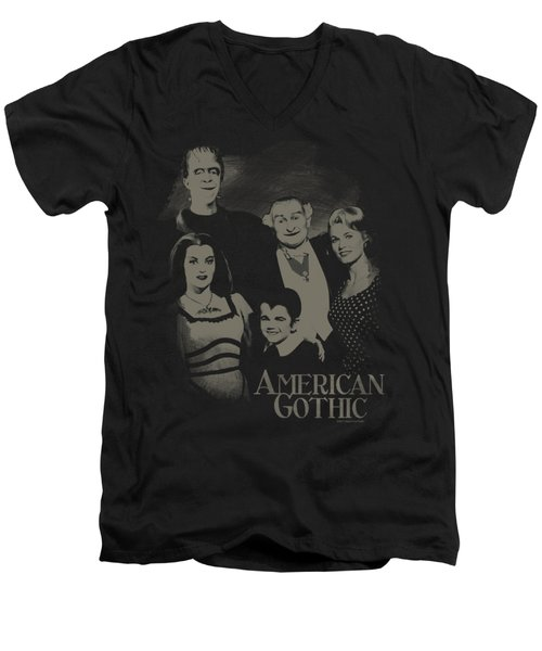 The Munsters - American Gothic Men's V-Neck T-Shirt