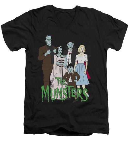 The Munsters - The Family Men's V-Neck T-Shirt