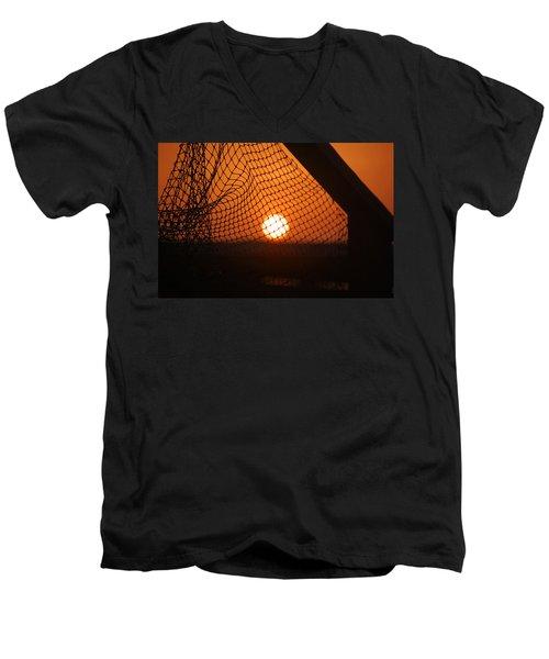 The Netted Sun Men's V-Neck T-Shirt by Leticia Latocki