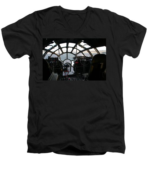 Men's V-Neck T-Shirt featuring the photograph The Office by David S Reynolds