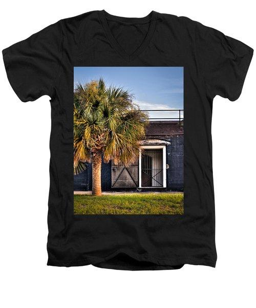 The Old Fort-color Men's V-Neck T-Shirt
