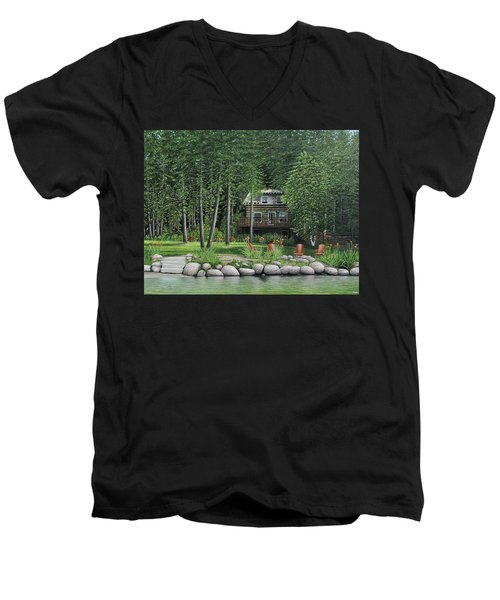 The Old Lawg Caybun On Lake Joe Men's V-Neck T-Shirt